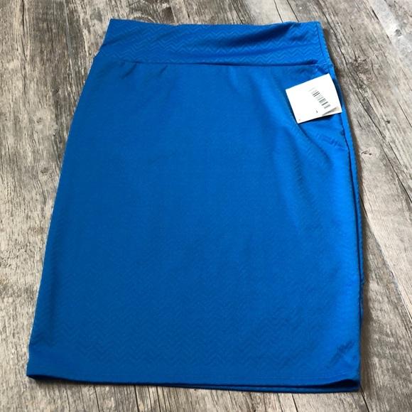 LuLaRoe Dresses & Skirts - Lularoe Blue Cassie Skirt L